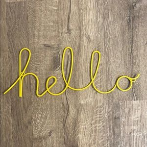Urban Outfitters hello decor wall hanging